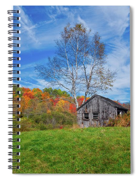 Spiral Notebook featuring the photograph New England Fall Foliage by Robert Bellomy