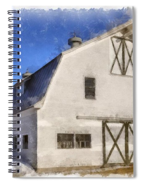 New England Horse Barn South Woodstock Vermont Spiral Notebook