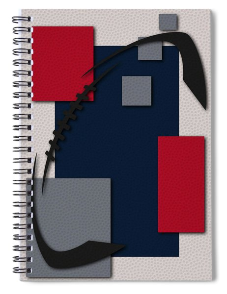 New England Patriots Football Art Spiral Notebook