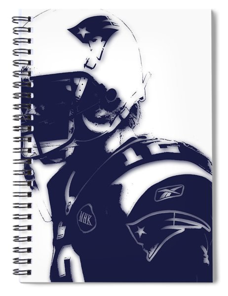 New England Patriots Tom Brady 4 Spiral Notebook