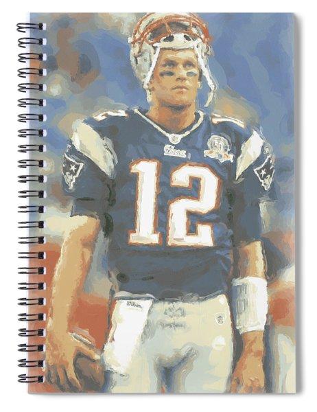 New England Patriots Tom Brady Spiral Notebook