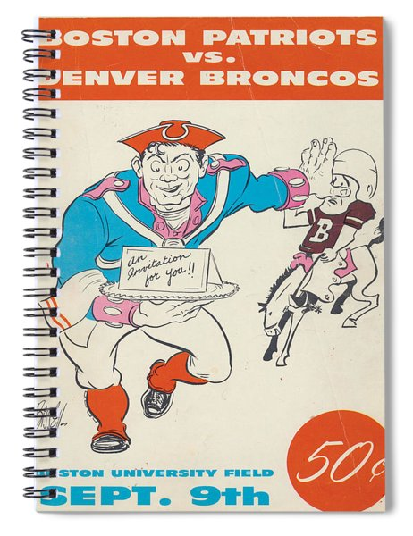 New England Patriots Vintage Program 3 Spiral Notebook