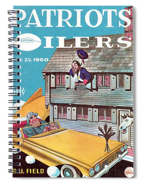New England Patriots Vintage Program 4 Spiral Notebook