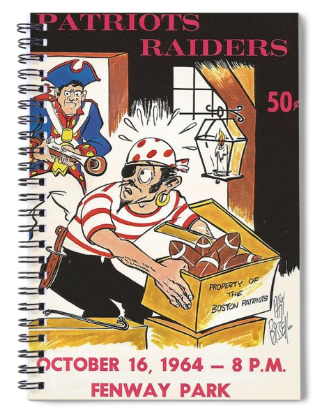 New England Patriots Vintage Program 5 Spiral Notebook