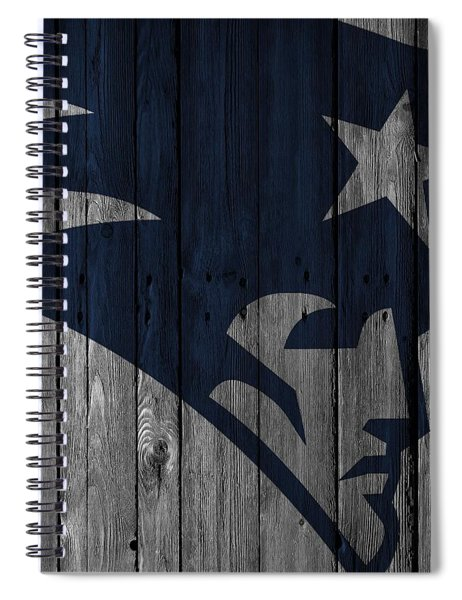 New England Patriots Wood Fence Spiral Notebook