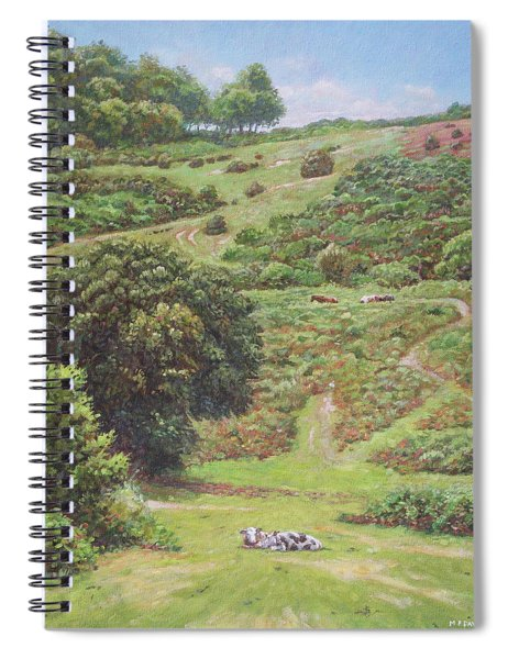 New Forest Hill With Cows And Horses Spiral Notebook
