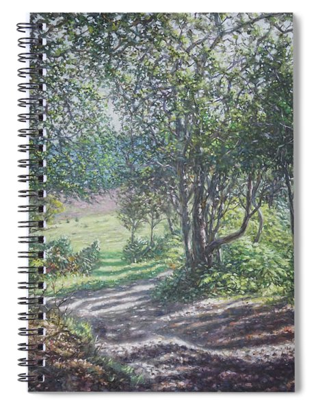 New Forest Path In Summer Evening Spiral Notebook