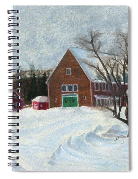 New Hampshire Farm In Winter Spiral Notebook