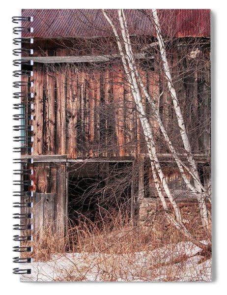 Vintage Winter Barn Spiral Notebook