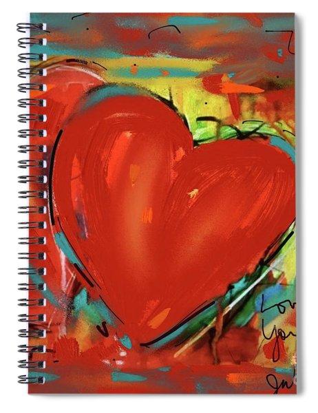 New Heart Spiral Notebook