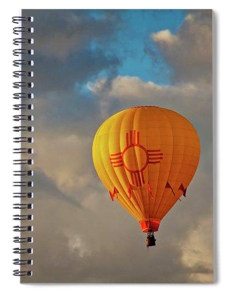 New Mexico Zia Sun Hot Air Balloon Spiral Notebook