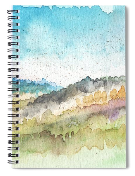 New Morning- Watercolor Art By Linda Woods Spiral Notebook