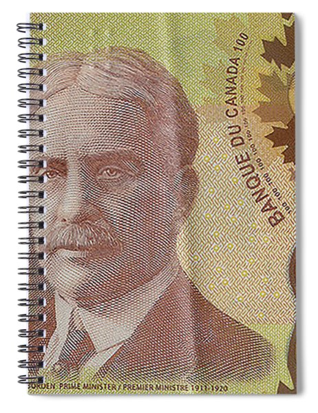 New One Hundred Canadian Dollar Bill Spiral Notebook