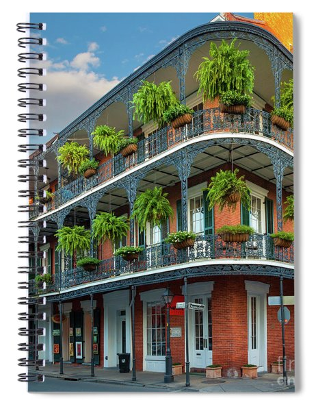 Spiral Notebook featuring the photograph New Orleans House by Inge Johnsson
