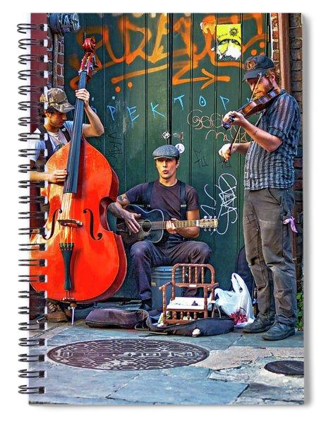 New Orleans Street Musicians Spiral Notebook