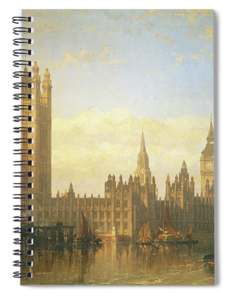 New Palace Of Westminster From The River Thames Spiral Notebook