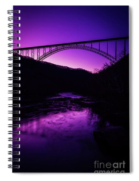 New River Gorge Bridge Afterglow Spiral Notebook