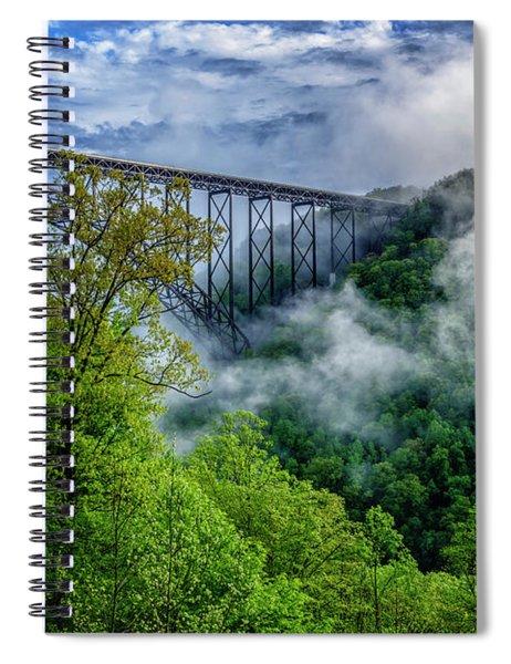 New River Gorge Bridge Morning  Spiral Notebook