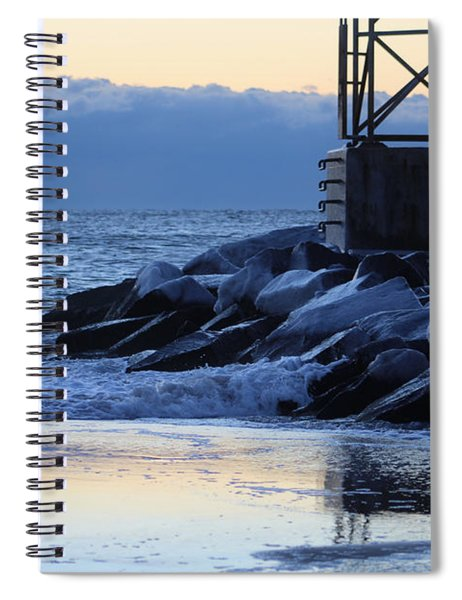 New Year Dawn Reflection Spiral Notebook