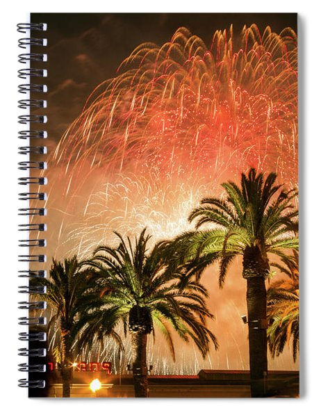 New Years Fireworks Finale San Francisco Spiral Notebook