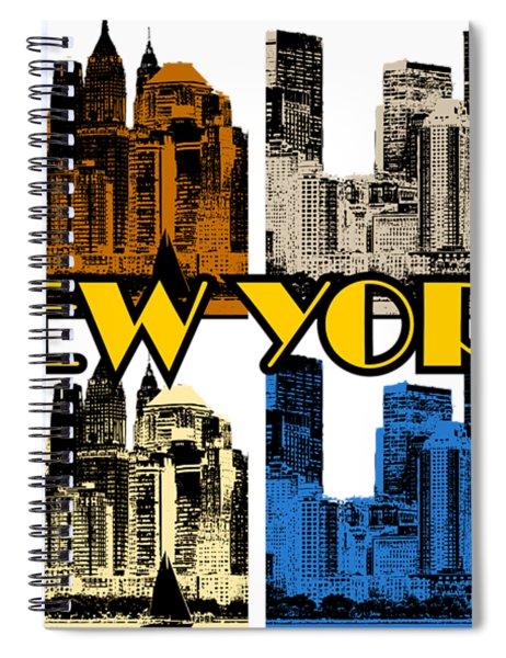 New York 4 Color Spiral Notebook