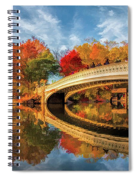 New York City Central Park Bow Bridge Spiral Notebook