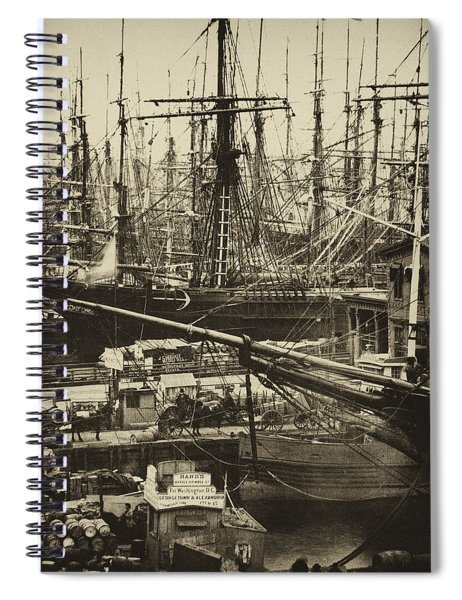 New York City Docks - 1800s Spiral Notebook
