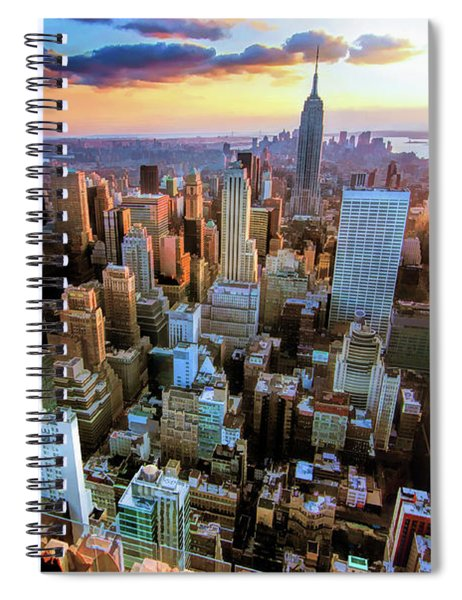 New York City Downtown Manhattan Spiral Notebook