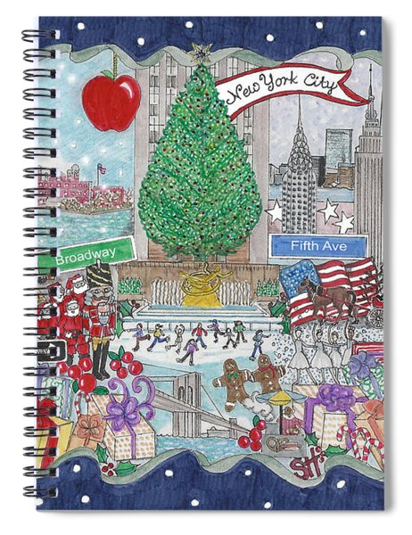 New York City Holiday Spiral Notebook