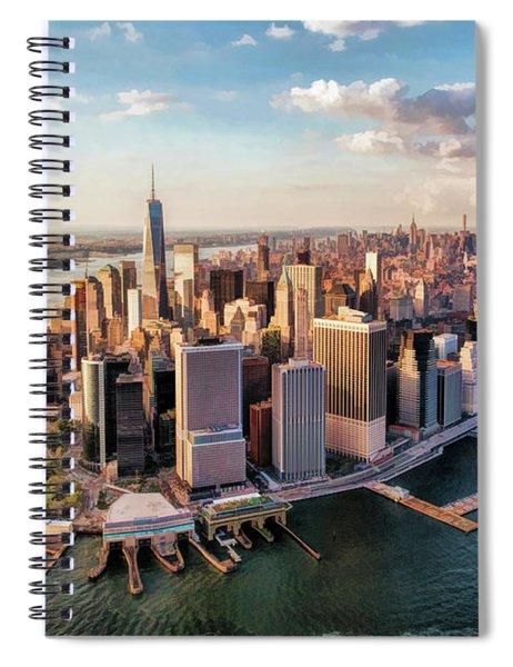 New York City Manhattan Aerial Skyline Spiral Notebook