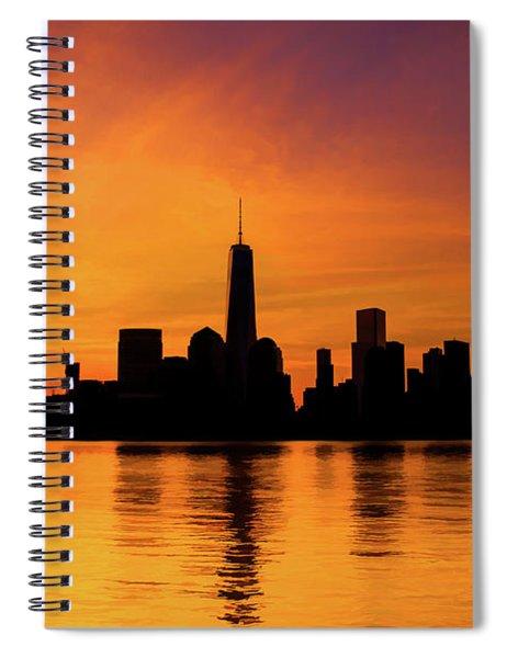 New York City Manhattan Sunrise Skyline Spiral Notebook