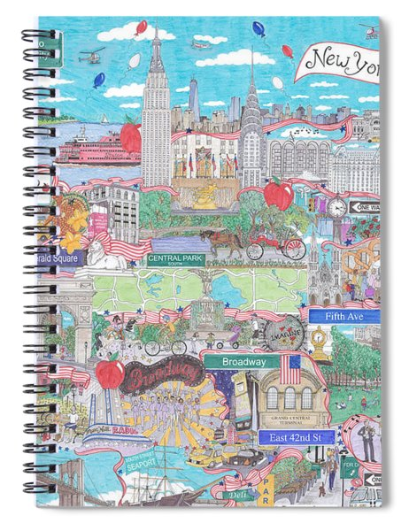 New York City On A Sunny Day Spiral Notebook