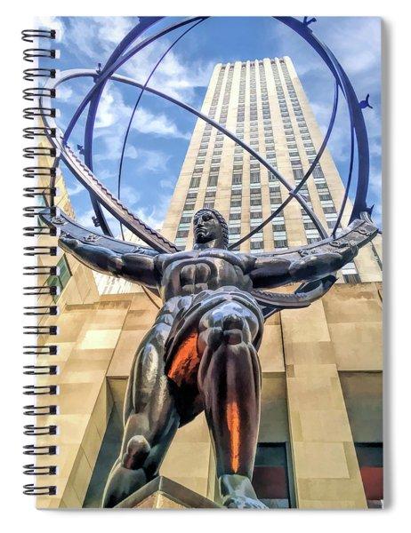 New York City Rockefeller Center Atlas The Titan Spiral Notebook