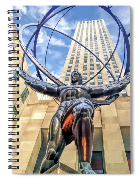 New York City Rockefeller Center Atlas The Titan Spiral Notebook