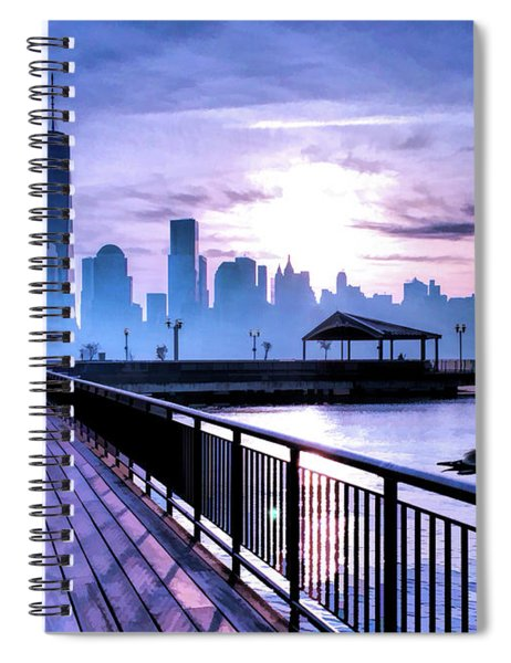 New York City Skyline Jersey City View Spiral Notebook