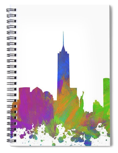 New York City Skyline Silhouette V Spiral Notebook