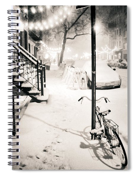 New York City - Snow Spiral Notebook by Vivienne Gucwa