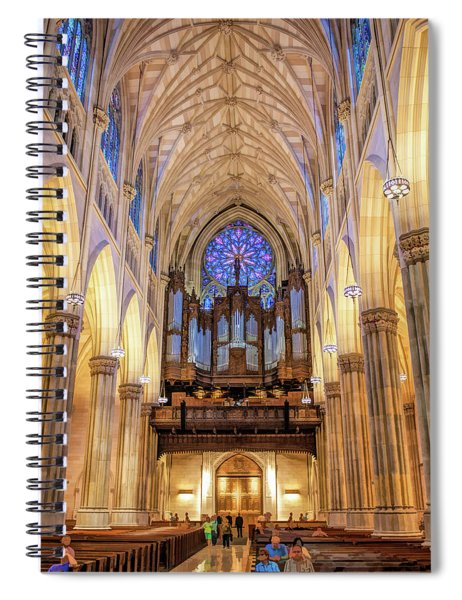 New York City St Patrick's Cathedral Organ Spiral Notebook