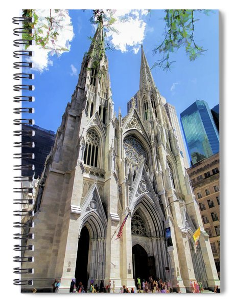 New York City St Patrick's Cathedral Spires Spiral Notebook
