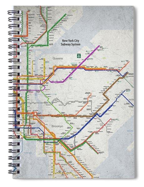 New York City Subway Map Spiral Notebook