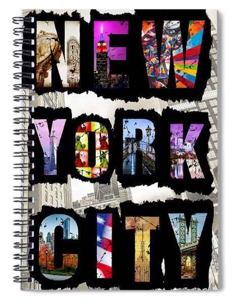 New York City Text Spiral Notebook