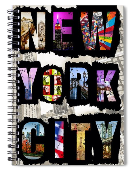 New York City Text Spiral Notebook