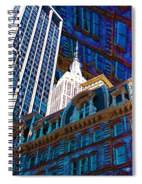 New York City Up Is Down Down Is Up Blue Spiral Notebook