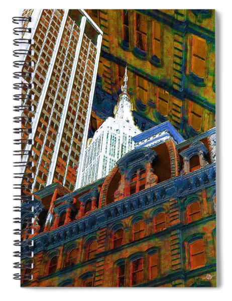 New York City Up Is Down Down Is Up Orange Spiral Notebook