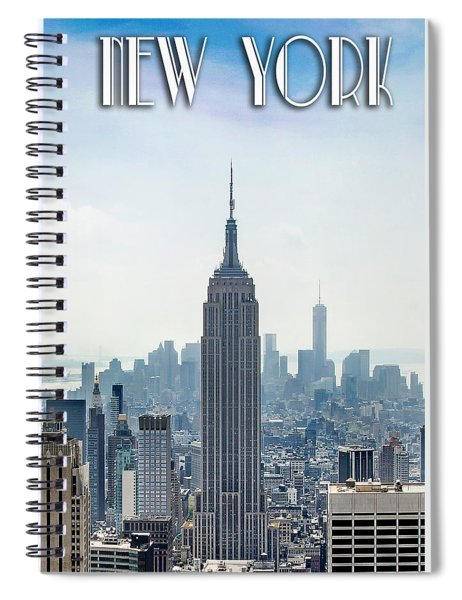 New York Classic View With Text Spiral Notebook