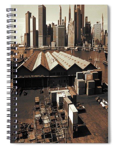 New York Harbor Docks 1980 - Vintage Photo Art Spiral Notebook