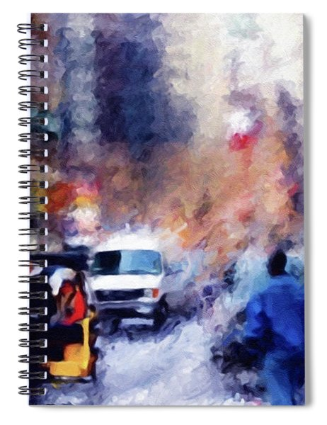 New York Hustle And Bustle Spiral Notebook
