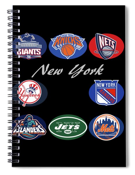 New York Professional Sport Teams Collage  Spiral Notebook