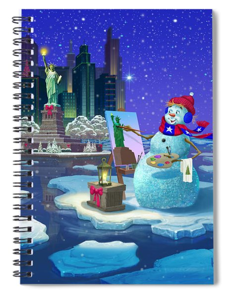 It's Christmas Time In The City Spiral Notebook