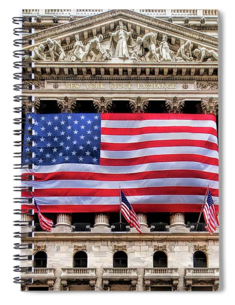 New York Stock Exchange Flag Spiral Notebook